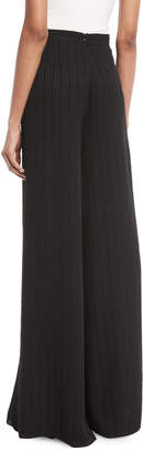 Alexis Fionna Striped Textured Wide-Leg Pants