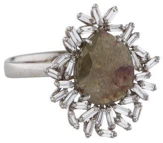 Suzanne Kalan 18K Diamond Fireworks Cocktail Ring
