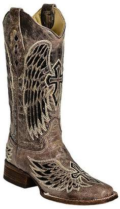 CORRAL Women's A1197 Wing And Cross Sequence Brown Fashion Boots 7 M