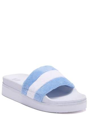 JANE AND THE SHOE Jemma Plush Platform Sport Slide Sandal (Women)