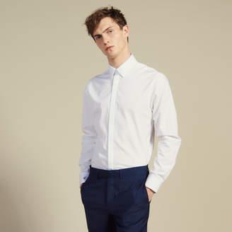 bc4309265 Hidden Button Placket Shirt - ShopStyle