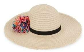 Eugenia Kim Honey Wide-Brim Pom-Pom Sun Hat