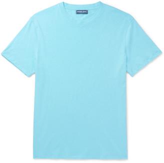 Frescobol Carioca Mazola Slub Cotton and Linen-Blend Jersey T-Shirt - Men - Blue