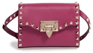 Valentino Small Rockstud Leather Shoulder Bag - Pink $995 thestylecure.com