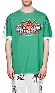 "Vetements Men's ""Hug Me"" Cotton Oversized T-Shirt - Green"