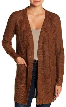Modern Designer Faux Suede Elbow Patch Knit Cardigan