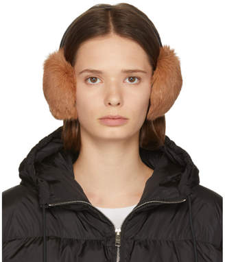 Yves Salomon Pink Rabbit Earwarmers