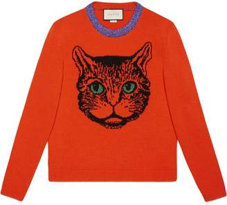 Gucci Mystic cat wool knit sweater