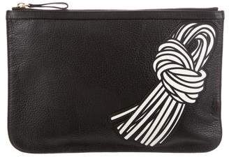 Pierre Hardy Pebbled Leather Zip Pouch