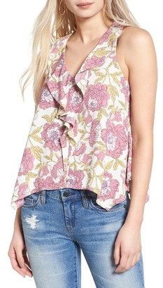 Women's Leith Ruffle Tank $59 thestylecure.com