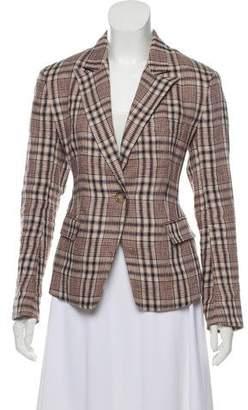 Etoile Isabel Marant Plaid Linen Blazer