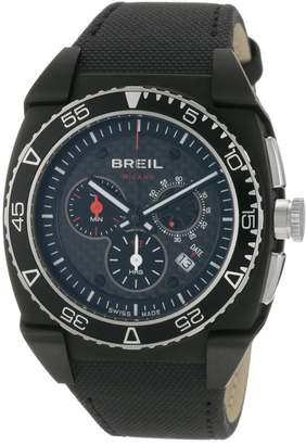 Breil Milano Men's BW0581 Mediterraneo Sport Custom Round Carbon Fiber Dial Watch