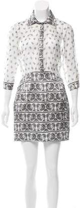 Pierre Balmain Silk Printed Dress