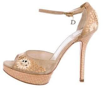 Christian Dior Embellished Platform Sandals