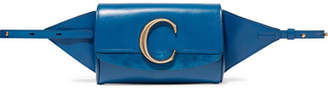 Chloé C Suede-trimmed Leather Belt Bag - Blue