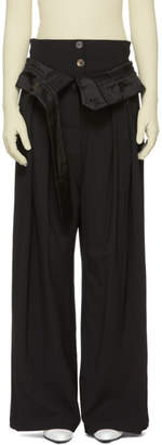 Awake Black Undone Trousers