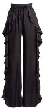 Cinq à Sept Larkin Ruffled Wide-Leg Pants