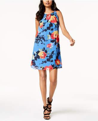 Robbie Bee Petite Floral Chiffon Dress
