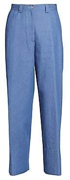 Dries Van Noten Women's Wide-Leg Cuffed Denim Pants
