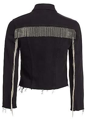 L'Agence Women's Janelle Fringe Chain Jacket
