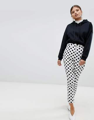 Missguided Polka Dot High Waist PANTS
