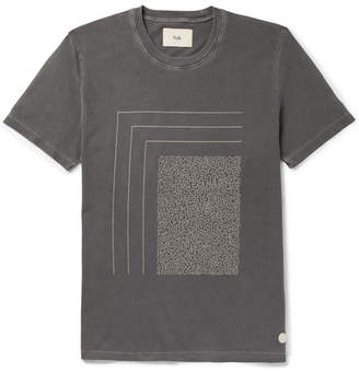 Folk Mudd Printed Cotton-Jersey T-Shirt - Gray