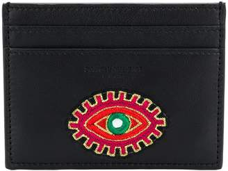 Saint Laurent Eye embroidered card case