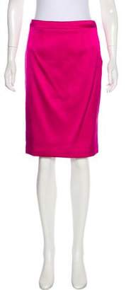 Giorgio Armani Silk-Blend Knee-Length Skirt