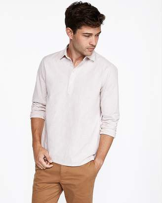 Express Slim Striped Popover Shirt