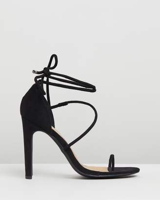 Missguided Strappy Toe Post Heels