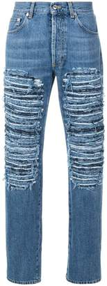 Alexander McQueen ripped loose fit jeans