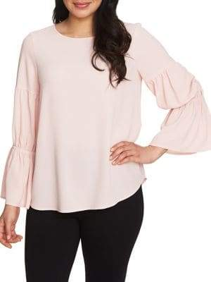 Chaus Graceful Blooms Smocked-Sleeve Blouse