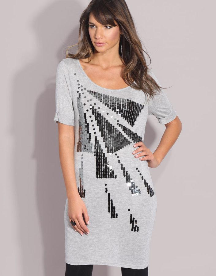 ASOS Sequin T-Shirt Jersey Dress