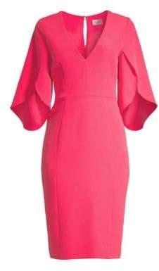 Milly Jana Flutter-Sleeve Sheath Dress