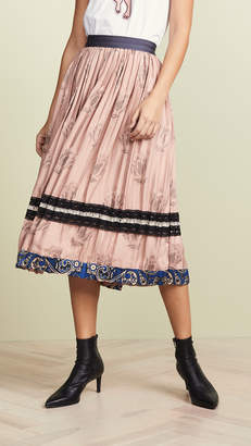 Coach 1941 Tulip Print Pleated Skirt