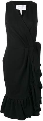 Milla ruffled wrap dress