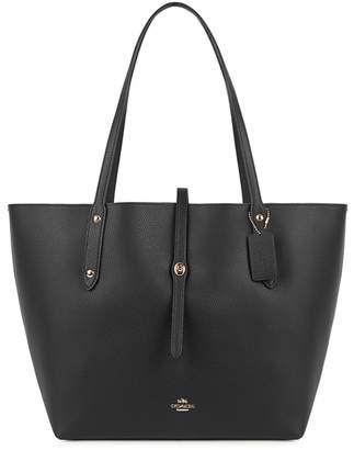 Coach Market Black Leather Tote