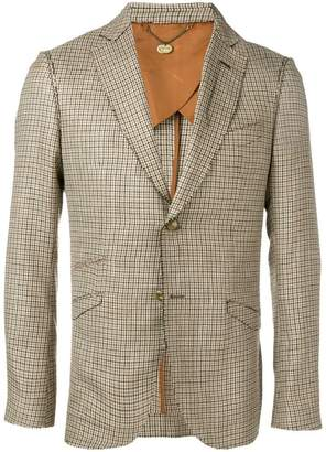 Maurizio Miri check print blazer