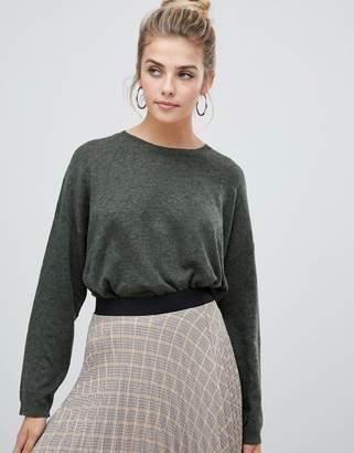 Bershka loose fit jersey knitted sweater