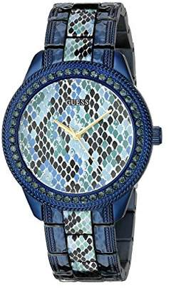 GUESS Women's U0624L3 Iconic Indigo Blue Python Print Watch