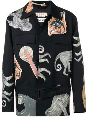 Marni sketch detail shirt jacket