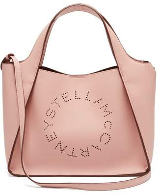 Stella McCartney Stella Perforated Logo Faux Leather Tote Bag - Womens - Light Pink