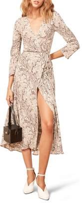Reformation Jaz Wrap Midi Dress
