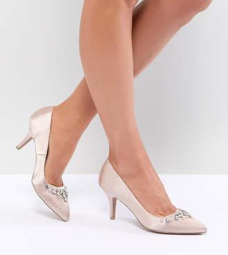 Qupid Bridal Embellished Pointed Heels