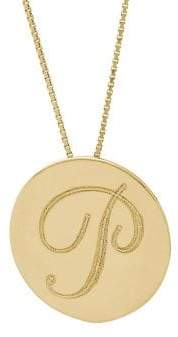 Lord & Taylor 14K Yellow Gold Initial Pendant Necklace