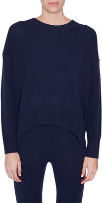 Allude Navy Cashmere Sweater