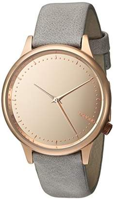 Komono Women's 'Estelle' Quartz Stainless Steel and Leather Dress Watch