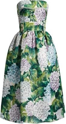 DOLCE & GABBANA Hydrangea-print organza strapless dress $6,195 thestylecure.com