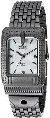 Burgi Women 's QuartzステンレススチールCasual Watch , Color :グレー(モデル: bur171gn )