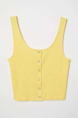 H&M Tank Top with Snap Fasteners - Yellow